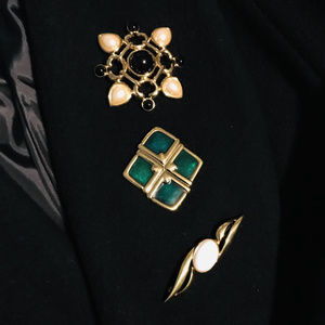 Monet Brooches (Gold Tone)